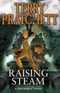Raising Steam Paperback Book Cover by Terry Pratchett