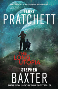 The Long Utopia Paperback Book Cover by Terry Pratchett
