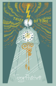 The Thief of Time Hardback Book Cover by Terry Pratchett