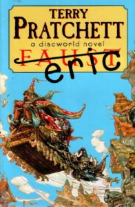 Eric Paperback Book Cover by Terry Pratchett