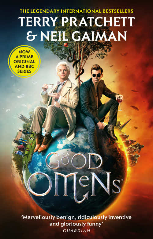 Good Omens Paperback TV Tie In Book Cover by Terry Pratchett