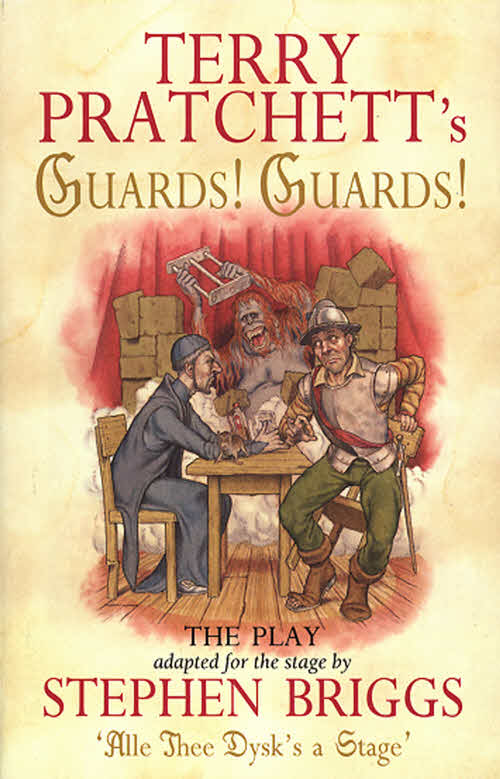 Guards! Guards! The Play Paperback Book Cover by Terry Pratchett