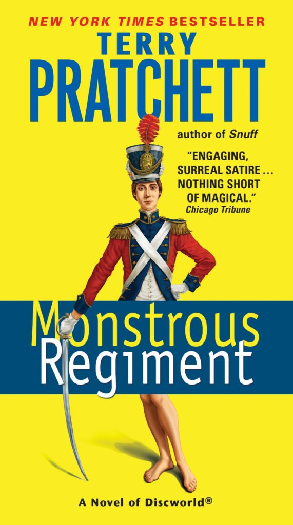 Monstrous Regiment US Paperback Book Cover by Terry Pratchett