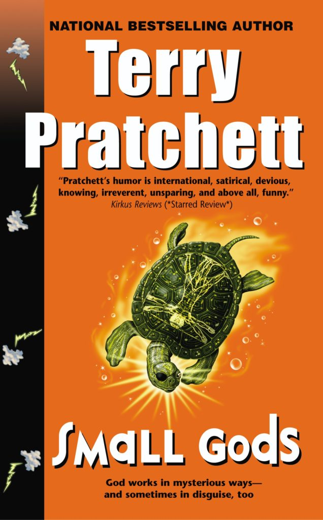 Small Gods US Paperback Book Cover by Terry Pratchett