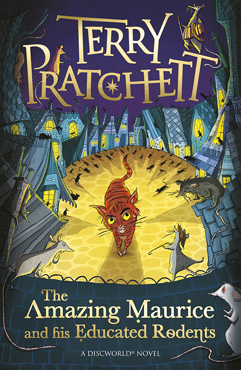 The Amazing Maurice Paperback Book Cover by Terry Pratchett
