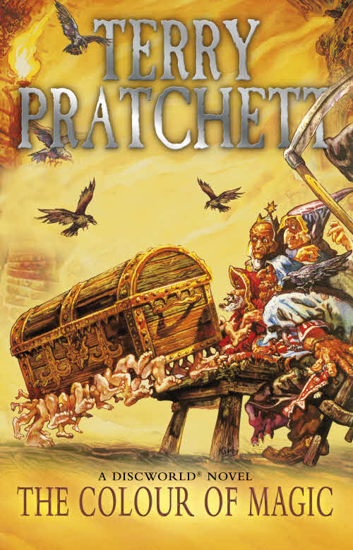 The Colour of Magic Paperback Book Cover by Terry Pratchett