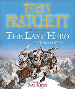 The Last Hero Paperback Book Cover by Terry Pratchett