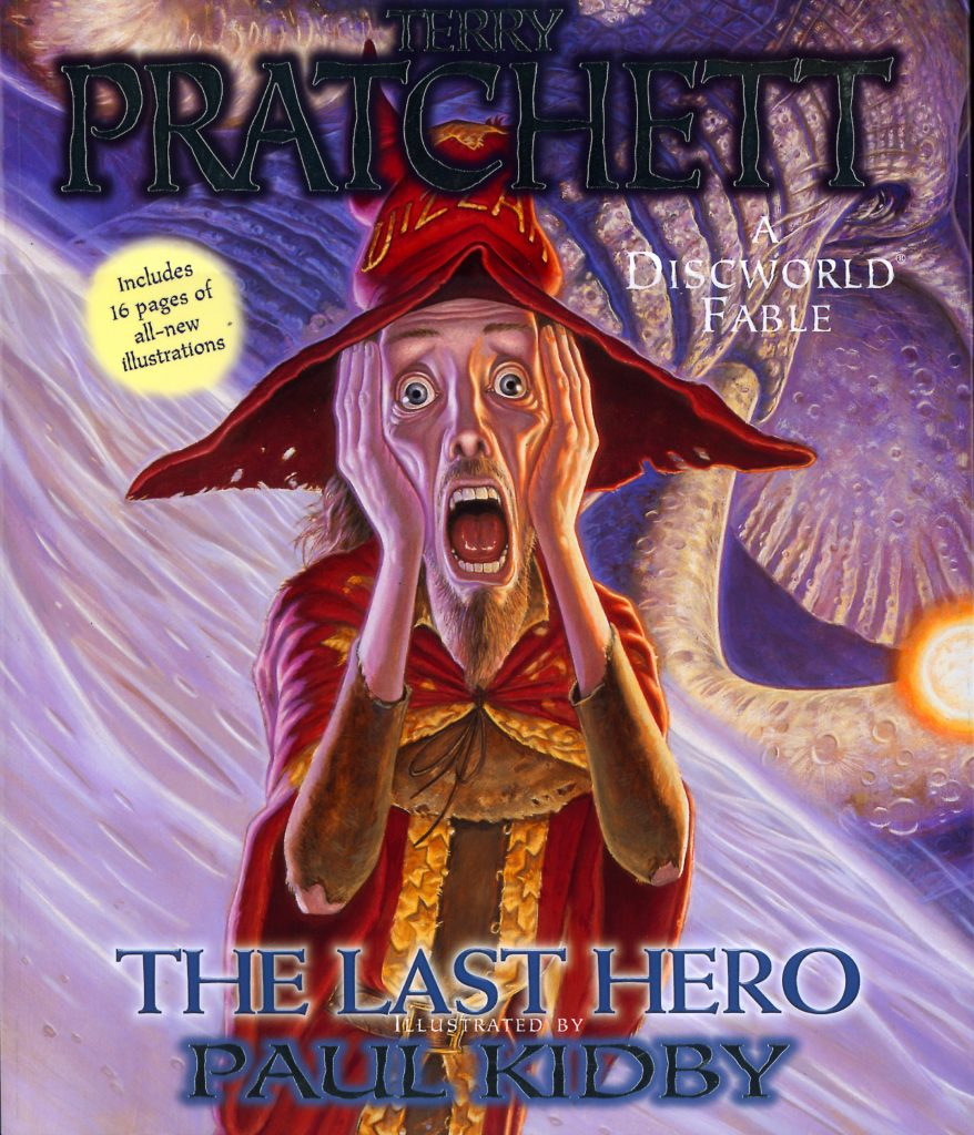 The Last Hero US Paperback Book Cover by Terry Pratchett