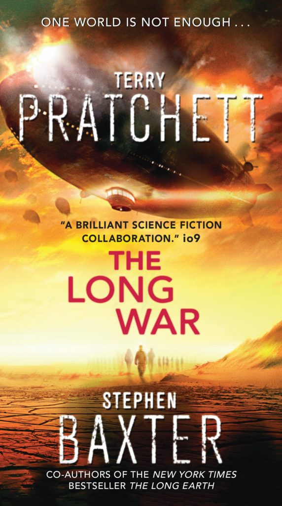 The Long War US Paperback Book Cover by Terry Pratchett
