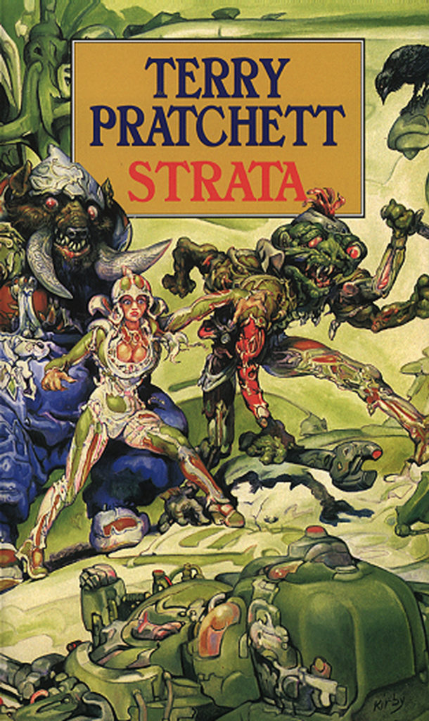 Strata Paperback Book Cover by Terry Pratchett
